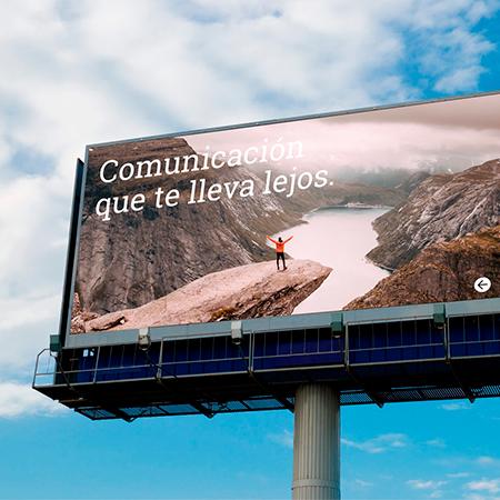 publicidad monopostes carretera