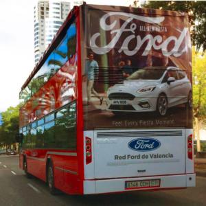 Trasera integral publicidad en autobuses